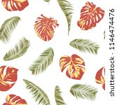 summer exotic floral tropical... | Shutterstock .eps vector #1146474476