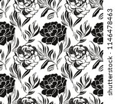 seamless floral pattern with... | Shutterstock . vector #1146478463