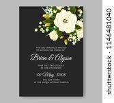 floral wedding invitation...   Shutterstock .eps vector #1146481040