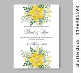floral wedding invitation... | Shutterstock .eps vector #1146481193