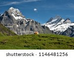 blue sky about mountains  ... | Shutterstock . vector #1146481256
