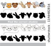 farm animals heads and faces... | Shutterstock .eps vector #1146482816
