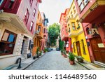 historical colorful houses in... | Shutterstock . vector #1146489560