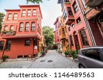 historical colorful houses in... | Shutterstock . vector #1146489563