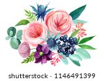 abstract flowers on isolated... | Shutterstock . vector #1146491399