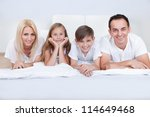 happy family with two children... | Shutterstock . vector #114649468