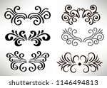 abstract curly element set for... | Shutterstock .eps vector #1146494813