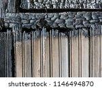 burnt wood grey background.... | Shutterstock . vector #1146494870