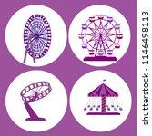 amusement park flat icons set... | Shutterstock .eps vector #1146498113