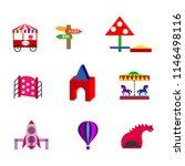 amusement park flat icons set... | Shutterstock .eps vector #1146498116