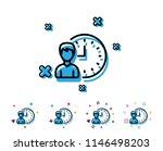 business project deadline line... | Shutterstock .eps vector #1146498203