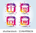 gift box sign icons. present... | Shutterstock .eps vector #1146498626