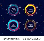 set of laptop  teapot and... | Shutterstock .eps vector #1146498650