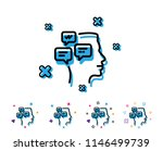 chat messages line icon.... | Shutterstock .eps vector #1146499739