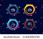 set of teamwork  security and... | Shutterstock .eps vector #1146500150