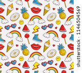 colorful seamless pattern with... | Shutterstock . vector #1146504569