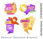 set of summer badges isolated... | Shutterstock .eps vector #1146506030
