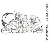 tasting cheese dish on a dark... | Shutterstock .eps vector #1146509486