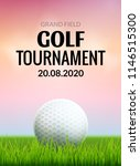 golf tournament poster template ... | Shutterstock .eps vector #1146515300