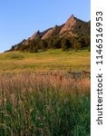 A Field With The Flatirons Of...