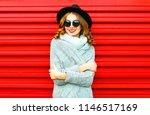happy pretty portrait smiling... | Shutterstock . vector #1146517169