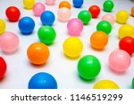 colorful plastic balls on a... | Shutterstock . vector #1146519299