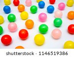 colorful plastic balls on a... | Shutterstock . vector #1146519386