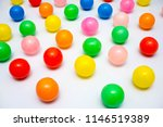colorful plastic balls on a... | Shutterstock . vector #1146519389