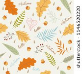 hand drawn of hello autumn... | Shutterstock .eps vector #1146520220