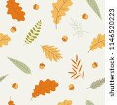 hand drawn of hello autumn... | Shutterstock .eps vector #1146520223