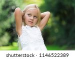 smiling beautiful child portrait | Shutterstock . vector #1146522389