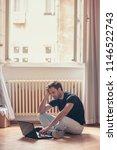 young poor man  hard working... | Shutterstock . vector #1146522743