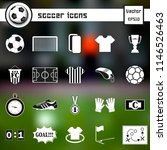 soccer icons on isolated... | Shutterstock .eps vector #1146526463