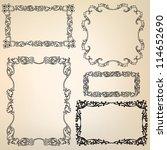 calligraphic retro frames for... | Shutterstock .eps vector #114652690