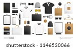vector male hipster fashion... | Shutterstock .eps vector #1146530066