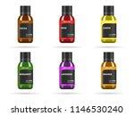 essential oil in glass jar.... | Shutterstock .eps vector #1146530240