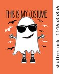 halloween ghost costume... | Shutterstock .eps vector #1146535856