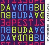 budapest  hungary seamless... | Shutterstock . vector #1146541916