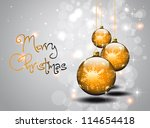 merry christmas silver vector... | Shutterstock .eps vector #114654418