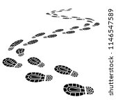 foot print monochrome brush ... | Shutterstock .eps vector #1146547589