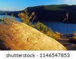 a hiking rest area on breakneck ...   Shutterstock . vector #1146547853