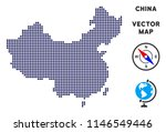 dot china map. abstract... | Shutterstock .eps vector #1146549446