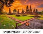 wat chaiwatthanaram  old temple ...   Shutterstock . vector #1146549800