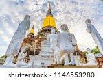 buddha statue in wat yai...   Shutterstock . vector #1146553280