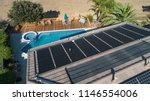 thermal solar panels installed... | Shutterstock . vector #1146554006