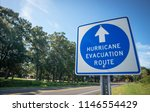 a sign directs hurricane... | Shutterstock . vector #1146554429
