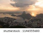 sunrise over sugar loaf and...   Shutterstock . vector #1146555683