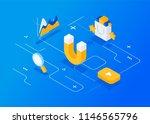 attracting online customers....   Shutterstock .eps vector #1146565796