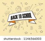back to school vector... | Shutterstock .eps vector #1146566003