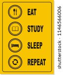 back to school  the routine... | Shutterstock .eps vector #1146566006